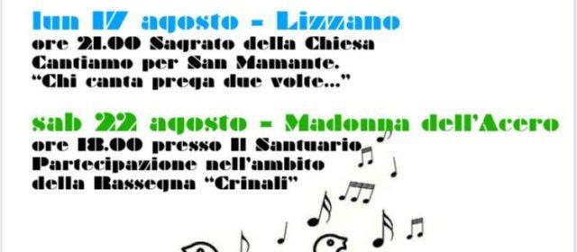 Il Coro canta..distanziati!!